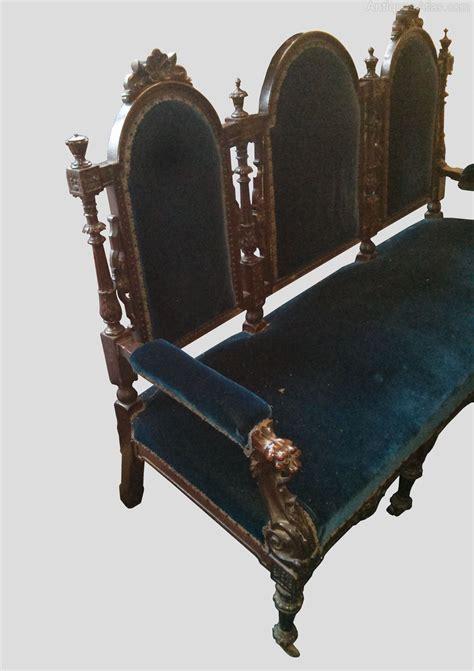 ornate sofa a victorian carved oak sofa antiques atlas