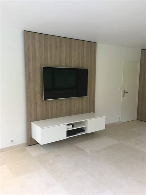 Meuble Tv Moderne Suspendu by Television Suspendue Mur Maison Design Wiblia