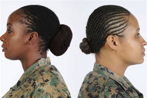 women hairstyles accepted in usmc female marines can finally wear locks and twists in their