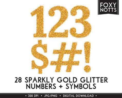 free printable glitter fonts gold glitter numbers symbols clipart font sparkle digital
