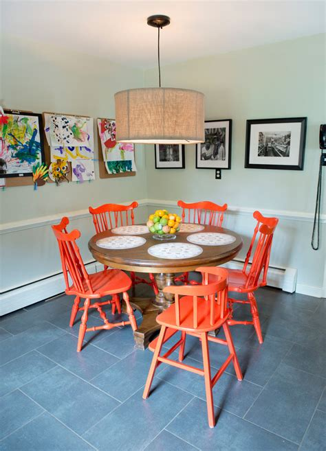 vintage chairs in dining room eclectic dining room kids artwork ideas dining room eclectic with vintage sign
