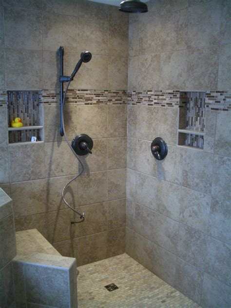 Pictures Of Tiled Showers And Bathrooms Kerdi Master Bathroom Shower Remodel In Fort Collins
