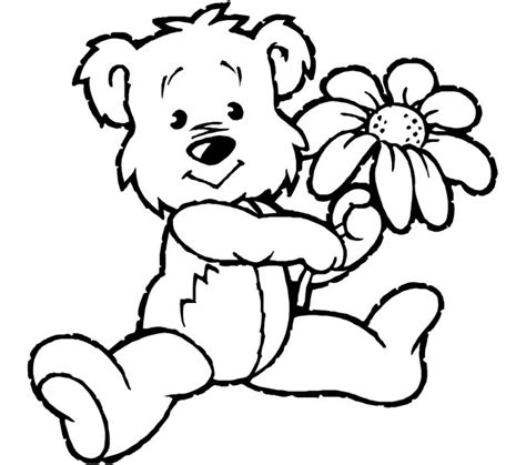 coloring pages of bears holding hearts teddy bear with heart coloring pages kids coloring