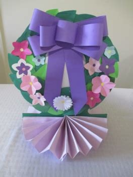 How To Make Easter Decorations Out Of Paper - how to make paper easter wreath