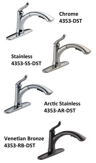 delta 4353 dst linden kitchen faucet single handle delta 4353 4353t dst linden single handle pull out kitchen