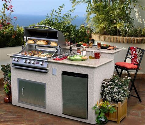 Outdoor Kitchen 4 Burner Barbecue Grill Island With