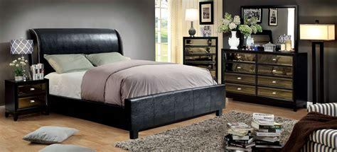 black leather bedroom sets maxon black bonded leather bedroom set las vegas