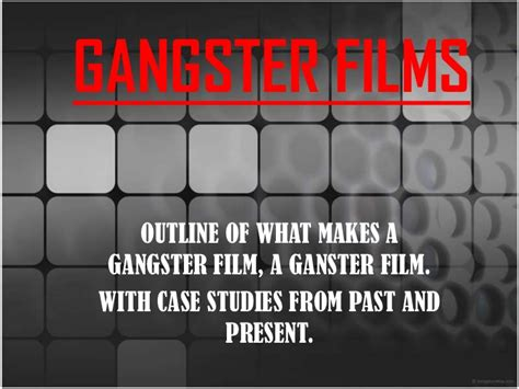 film gangster genre the gangster film genre