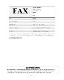 private fax template