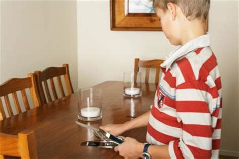 set the table how to teach kids the placement of silverware in place