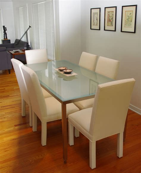 frosted glass dining room table best frosted glass dining room table pictures