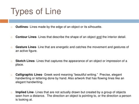 design definition of line types of line