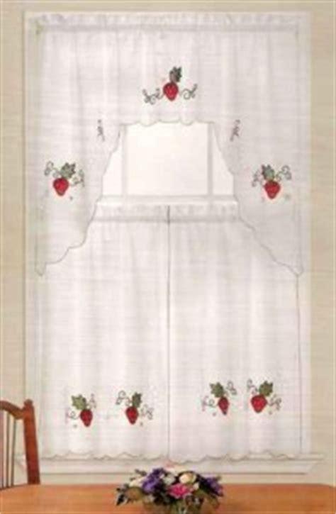 strawberry kitchen curtains nip set strawberry strawberries swag valance and kitchen