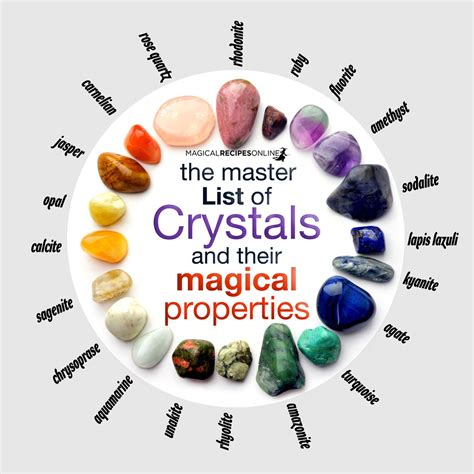 using gemstones to connect with your superpowers for adults books the master list of crystals and their magical properties