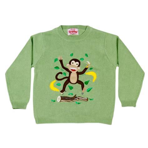 knitting pattern monkey jumper cheecky monkey knitted jumper by groovy kids