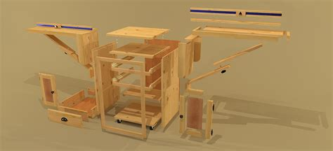 Miter Saw Cabinet by Creekside Woodshop Sketchup Drawings