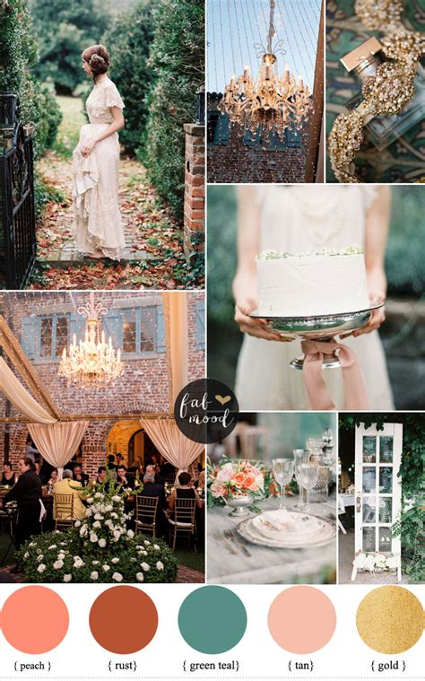 and teal autumn secret garden wedding theme ideas
