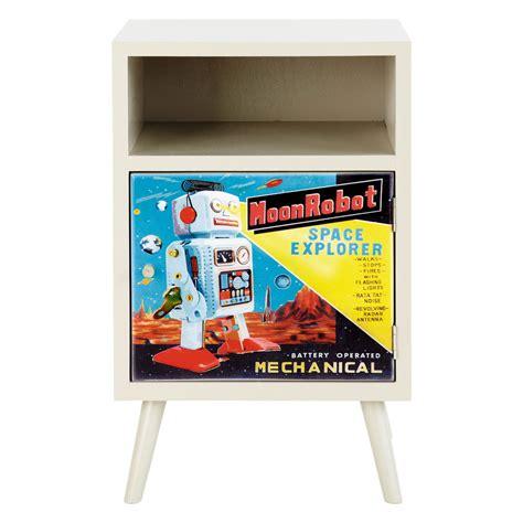 comodino per bambini comodino vintage per bambini robot robot maisons du monde