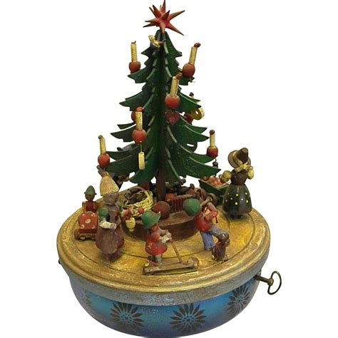charming vintage steinbach musical christmas tree merry go