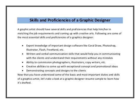 Graphics Design Responsibilities | graphic designer resume sle pdf