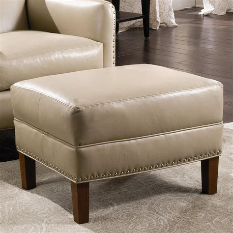 sam moore leather sofa sam moore calvin leather ottoman with nailhead trim