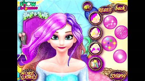 design games elsa elsa dye hair design games for girls youtube