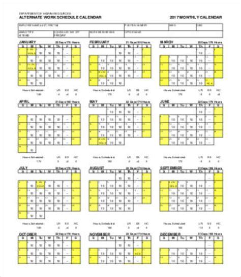 Work Calendar Template 9 Free Word Pdf Documents Download Free Premium Templates Work Schedule Calendar Template 2017
