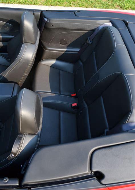 camaro rear seat legroom 2011 chevrolet camaro rs v6 convertible review test drive