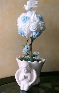 centerpiece for baptism boy baptism baby boy topiary baby blessing topiary by