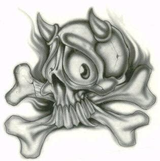 skull bones tattoo designs drawings of skulls gallery