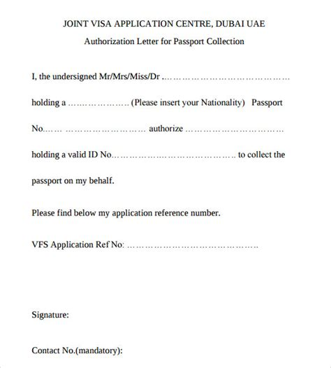 Embassy Letter For Minor Passport Uae 28 Authorization Letter Format To Embassy Authorization Letter Template For Visa