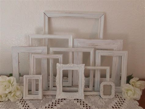 white shabby chic frame set picture photo beach cottage french country southern farmhouse home