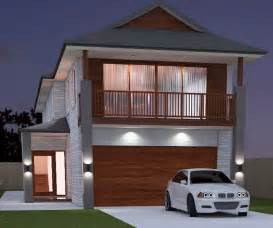 Narrow House Plans With Garage Underneath Nabeleacom - House design with garage underneath