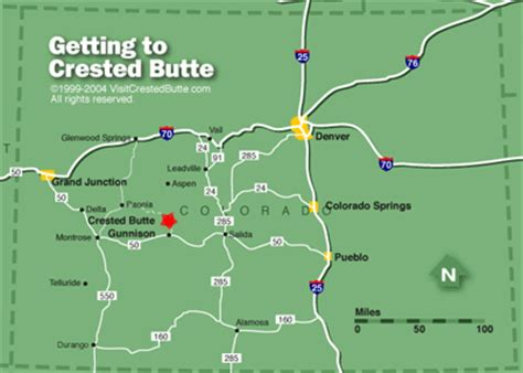 map directions crested butte colorado airline