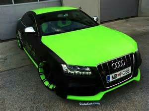 black and green cars