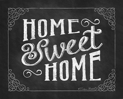 Home sweet home quot chalk art print contemporary prints and posters
