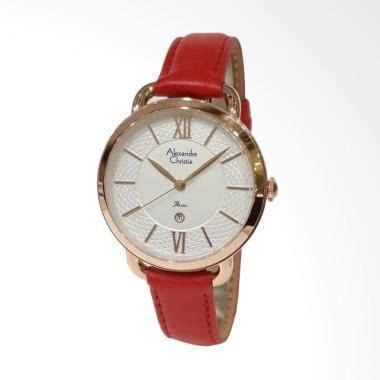 Jam Tangan Alexandre Christie Merah jual alexandre christie 2674ldlrgslre kulit merah jam tangan wanita gold ekstra