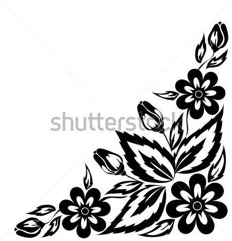 black and white floral pattern name siyah ve beyaz 199 i 231 ek aranjman sınır a 231 ısı beyaz arka plan