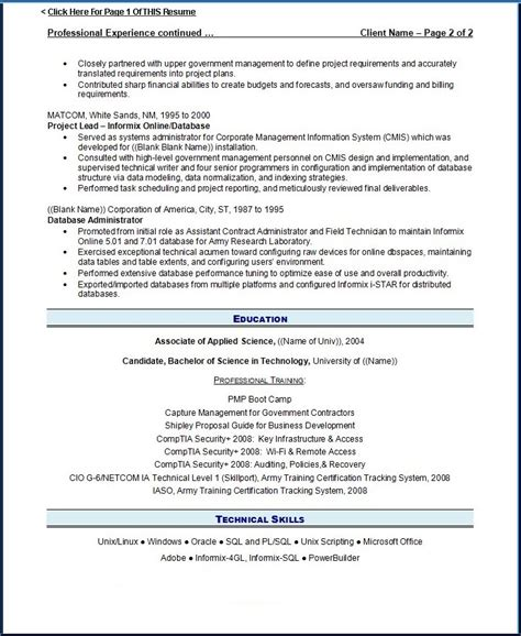 resume writing guild resume exle 3 page 2