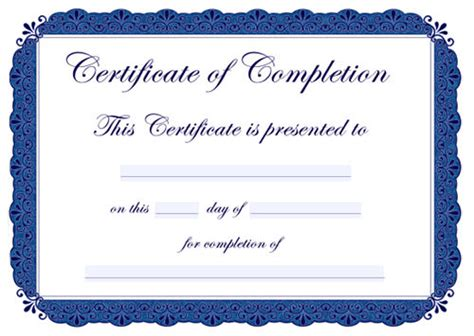 10 certificate of completion templates free download