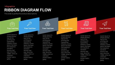 ribbon diagram flow powerpoint keynote template slidebazaar