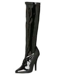 cheap black patent knee high boots for 2017