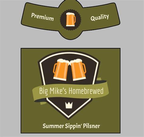 Beer Bottle Label Template Free