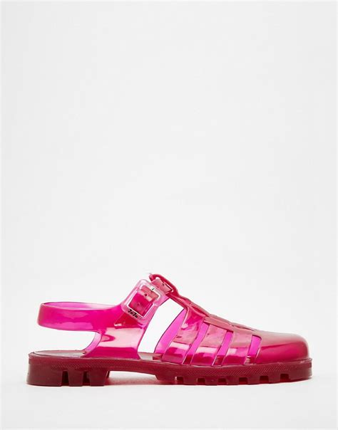 jelly flat sandals juju juju maxi jelly flat sandals at asos