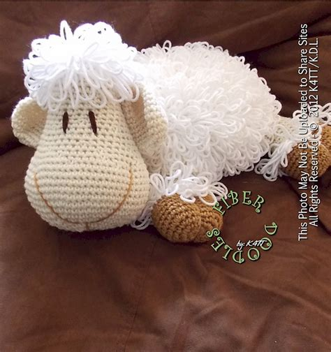 cute lamb pattern diy adorable crochet or knitted lamb pillow page 2 of 2