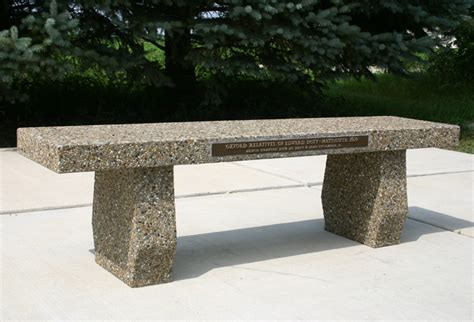 memorial concrete benches memorial patio bench doty concrete