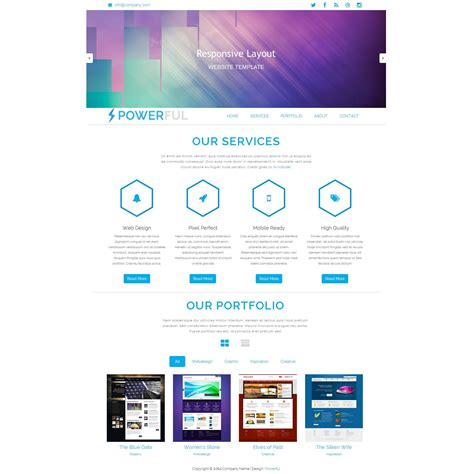 Powerful Is Free Responsive Bootstrap Template This Fluid Layout Is Ready For Mobile Devices Cheap Web Page Templates