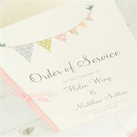 what s in the order of service for a wedding guides for brides