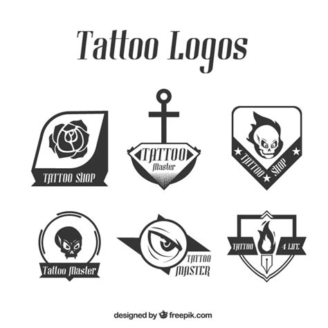 rose tattoo logo pack of modern logos vector free
