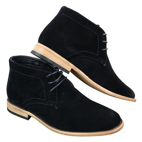navy blue mens boots mens suede lace ankle chukka boots chelsea dealer shoes